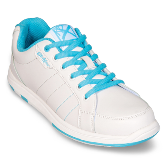 Picture of KR Women's Satin White/Aqua (WIDE)